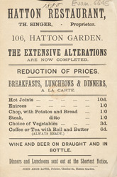 Advert for the Hatton Restaurant